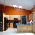 Remodeled Kitchen with orange walls
