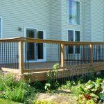 Broken railing outdoor porch